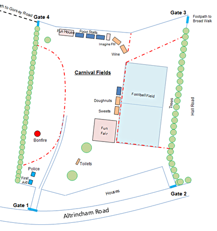Layout of facilities for the event